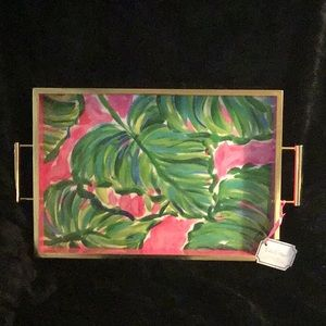 Lilly Pulitzer Painted Palms 12x3x19 Serving Tray